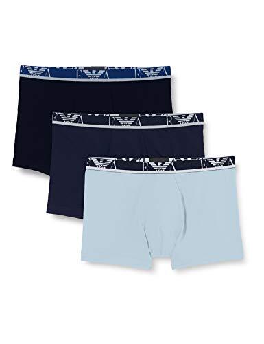 Emporio Armani Underwear 3-Pack Boxer Monogram, Azul Marino/jazme/ópalo, XXL para Hombre