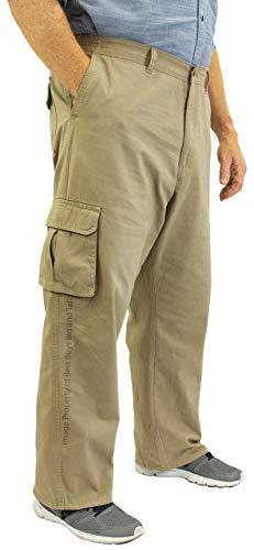 ROCXL Big /& Tall Mens 100/% Cotton Casual Cargo Pants