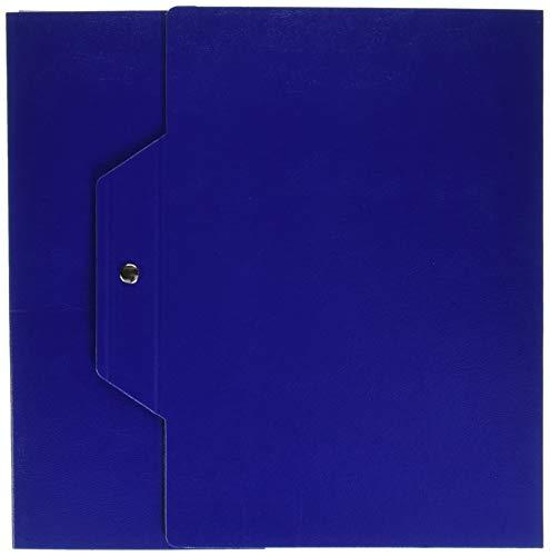 Brefiocart 020E7615.BS Cartella Progetti con Bottoni, Blu Scuro, Dorso 10, 25 x 35 cm, 5 pezzi