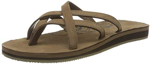 Teva Olowahu Leather W's Damen Sport- & Outdoor Sandalen, Braun (bison 561), EU 38