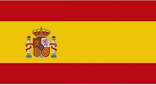 Oedim Bandera de España 85x150cm   Reforzada y con Pespuntes   Bandera de España con 2 Ojales Metálicos y Resistente al Agua