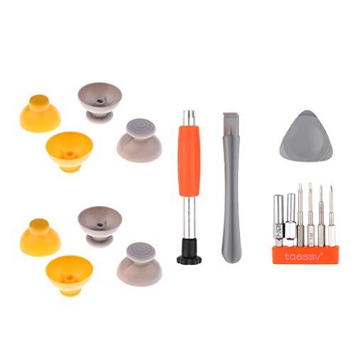 IPOTCH Palillos de Plástico Analógicos para Pulgar, Palanca de Pulgar, Joystick, Tapa de Repuesto, Cubierta + Herramientas para El Controlador GameC