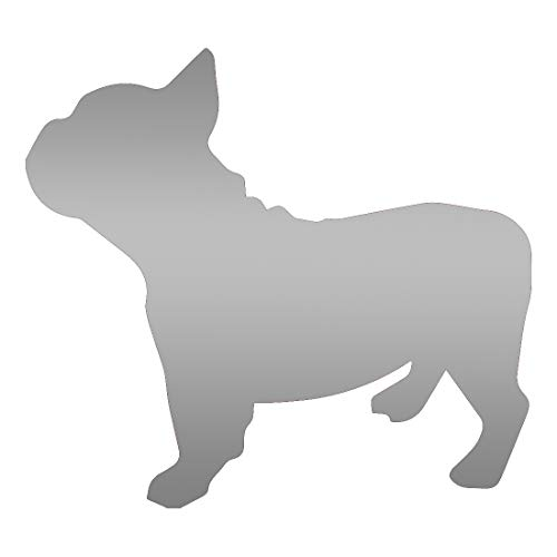 ANGDEST French Bulldog (Metallic Silver) (Set of 2) Premium Waterproof Vinyl Decal Stickers for Laptop Phone Accessory Helmet Car Window Bumper Mug Tuber Cup Door Wall Decoration