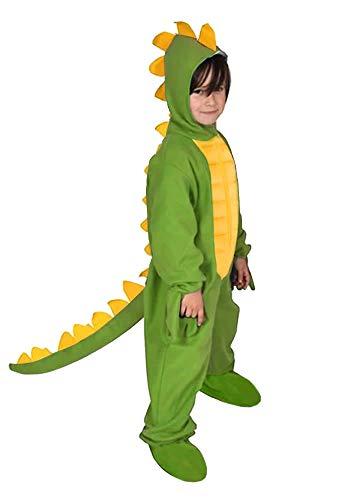 Dinosaurier Grün Dino Drache Kinder Kostüm 122 - 128 für Fasching Karneval Rummelpott Kinderkostüm