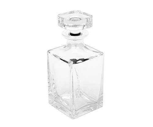 Brillibrum design whiskyfles wijnbrand fles whiskey-karaf kristal & zilver whiskyfles van kristalglas veredeld met 1000 fijnzilver