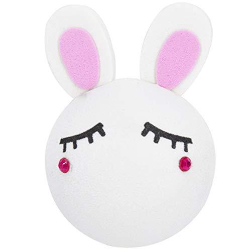 COGEEK Car Antenna Topper Ball Cute Rabbit Foam Antenna Ball (B)
