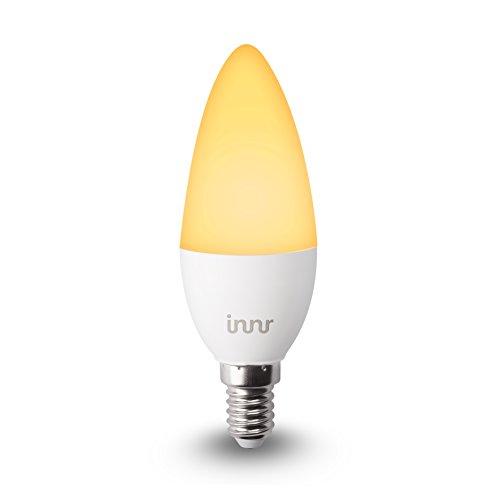 Innr E14 Smart LED Kerze, kompatibel mit Philips Hue* & Alexa (bridge erforderlich), dimmbar, Warmweiß bis Tageslicht, 2200K - 5000K, RB 148T