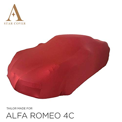 Star Cover AUTOABDECKUNG ROT ALFA Romeo 4C SCHUTZHÜLLE ABDECKPLANE SCHUTZDECKE VOLLGARAGE