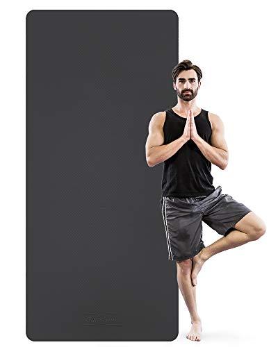 GymCope Fitnessmatte groß (90cm x 200cm x 8mm) extra Dicke TPE Yogamatte, Sportmatte, rutschfeste gymnastikmatte für Heimgymnastik, Yoga, Pilates, Fitness