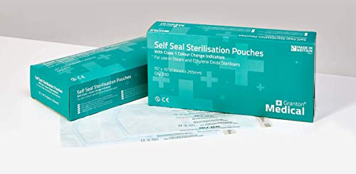 Sacchetti di sterilizzazione autosigillanti, 60x 100mm, confezione da 200