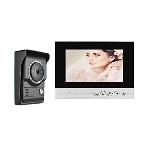 MISDD Telefonillo Portero Combinado de vídeo en Color de Alta definición de 7 Pulgadas por Portero eléctrico Acceso Villa (Color : Doorbell)