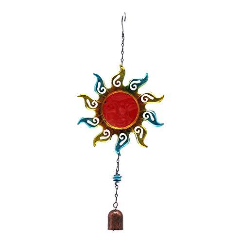YL-adorn art Wind Chimes, Un Jardin Extérieur Et Intérieur Carillon À Vent avec Natural Apaisants, Creative Red Sun Bell Wind Chimes Et S Crochets, pour La Décoration De La Maison Cadeaux De Noël