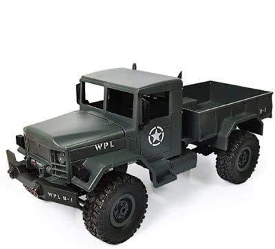 s-idee® 18138 B14 Militär Truck 4WD 2.4 Ghz RC R/C Ferngesteuerter Laster, Tank, Kettenfahrzeug, Monster Crawler LKW 1:16, Neu
