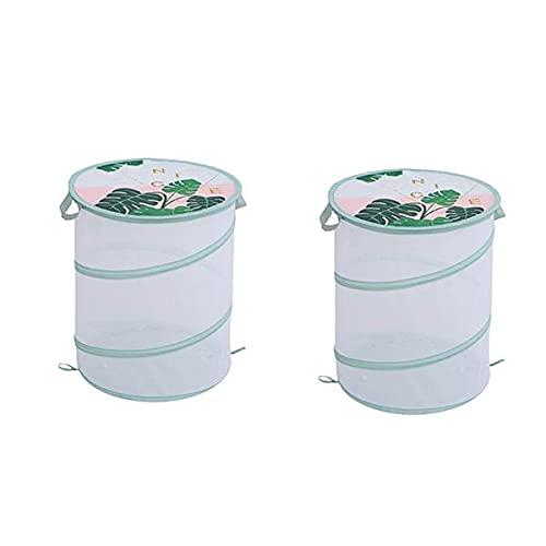 Parshall, cesto portaoggetti in rete traspirante con chiusura a cerniera, in poliestere, 2 pezzi