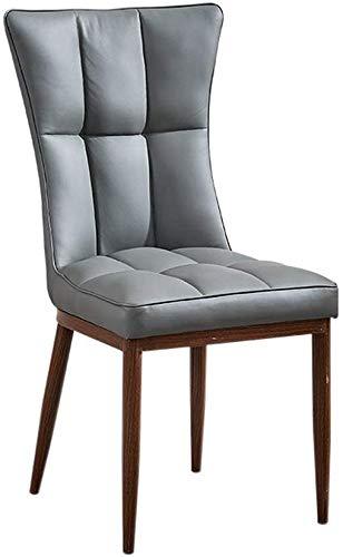 ZXL Eetkamerstoel, Scandinavische moderne minimalistische eetkamerstoel, restauranthrug-kruk, Amerikaanse stoel, bureaustoel, make-up stoel (kleur: bruin) grijs