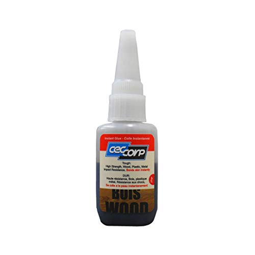 CECCORP Instant Glue Wood Black is a 20 gr medium viscosity cyanoacrylate adhesive designed to bond surface insensitive material like wood,leather,rubber,plastics and metal. Impact/Shock resistance.