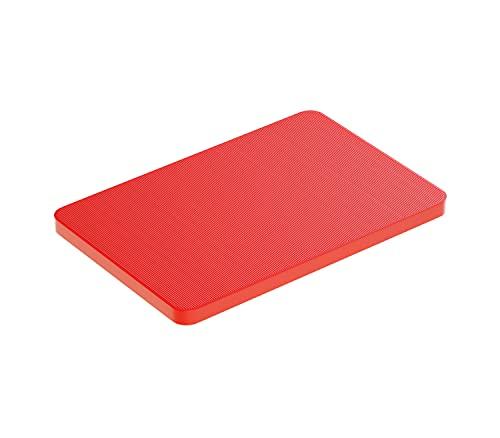 BAUHELD® Universal Unterlegplatten 60x40x 3mm [250 Stück] - Rote Distanzplatten aus Kunststoff [Made in Germany] - Als Abstandhalter, Kunststoffplatte, Unterleger oder Verglasungsklötze geeignet