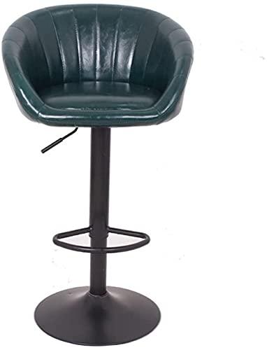 Tabouret à Barres européennes Chaise pivotante Noire ou Verte Compoun Chaise Haute Chaise bébé Chaise Haute Tabouret avec backrest Caisse enregistreuse Bar Table et Chaise (Couleur
