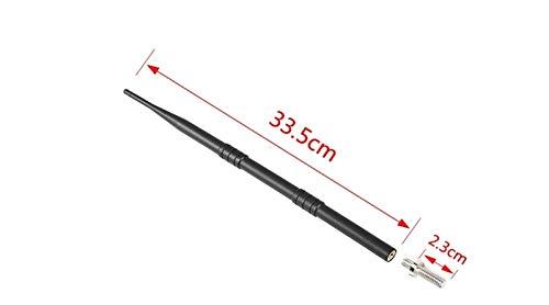Shutters Accesorios DE Coche Negro 19cm 33.5cm Coche Auto FM Am Radio Signal Metal Modificar Antenna FIT FOR Ford F150 2015+ (Color Name : 33.5cm)