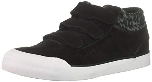 DC Women's Evan HI V SE Skate Shoe, Black/Black/Black Print, 10 B M US