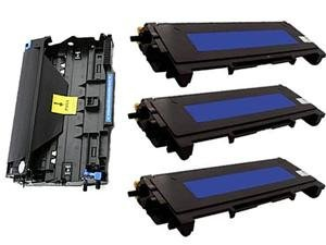 Awesometoner Compatible Drum Unit + 3 x Toner Cartridge Replacements for Brother DR-360 and TN-360, for use with Brother MFC 7340 7345N 7440N 7840W / HL 2140 2170W / DCP 7030 7040 Printer