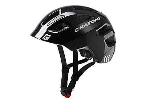 Cratoni Maxster Casco de Bicicleta, Unisex Adulto, Negro, Talla única