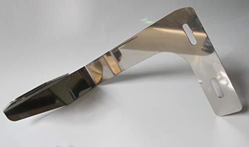 TRUCKDANET Accessorio in acciaio inox per camion serie TGX parasole, Staffa per antenna CB