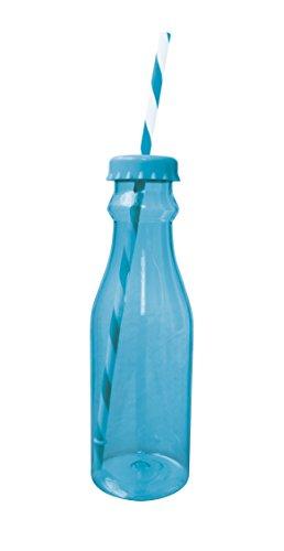 Zakdesigns 0412-0170 Bouteille de Soda avec Paille Polypropylène/Tritan Bleu/Blanc 45 x 35 x 25 cm 700 ml
