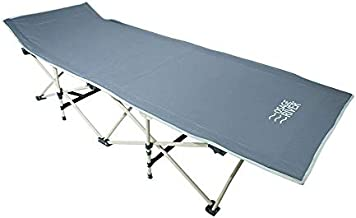 OSAGE RIVER Folding Camping Cot with Carry Bag, Portable and Lightweight Bed for Adults or Kids, Gray