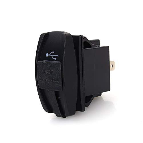Cargador doble USB para automóvil DC 12V-24V LED azul Cargador doble USB Carling ARB Interruptor de eje de balancín 5V 3.1A