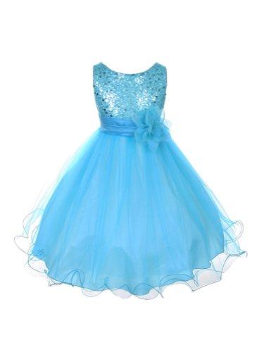 Kids Dream Lentejuelas Malla Vestido Flower Girl Infant Toddler Little Girl