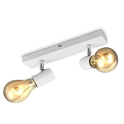 B.K.Licht I Lámpara de techo giratoria vintage I Luz de techo retro...