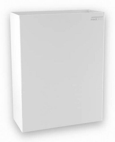 Mediclinics PP0279 - Abfallbehälter Offen 25 Liter Freistehend Oder Zur Wandmontage, Farbe:Weiß