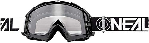 O'NEAL | Motorcross-Brille | Motorrad Enduro | Modernes Rahmendesign, Glas aus hochwertiger 1,2 mm-3D-Linse, 100% UV-Schutz | B-10 Goggle TWOFACE | Klar Schwarz | One Size