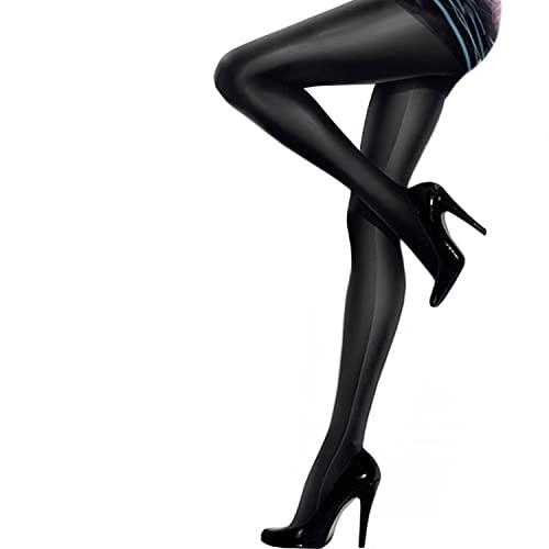 Gatta Black Brillant blickdichte Strumpfhose schwarz 4-L