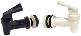 Tomlinson 1018855-1018854 Replacement Cooler Faucet Combo Pack - Black & White (Pack of 2)