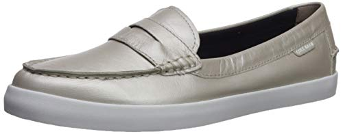Cole Haan womens Nantucket Loafer, Argento Metallic Leather, 7.5 US