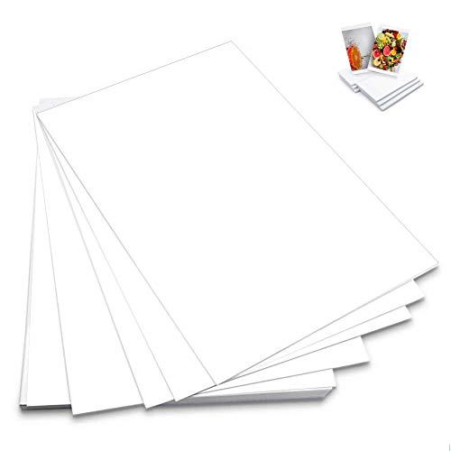 100Pcs Carta Fotografica Lucida per stampante laser fotocopiatrice lavagna luminosa per stampe e proiezioni di alta qualità, 6 Pollici 230 G