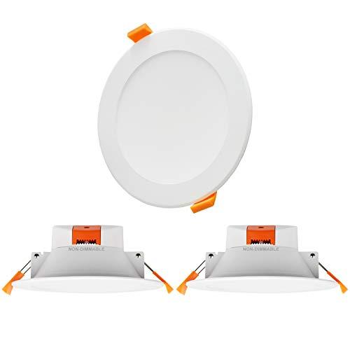 Lampade Plafoniere Faretti a LED da Incasso da Soffitto 12W IP44 per Bagno Cucina Luce Calda Fredda Regolabile Diametro da Buco 110-135MM Non Dimmerabile Lot di 3 di Enuotek