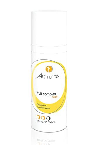 AESTHETICO fruit complex - Fruchtsäurecreme jetzt auch für empfindliche Haut, wirkt auf die Zellerneuerung aber beruhigend, auch mit Grünem Tee und Mimosenextrakt, 50 ml