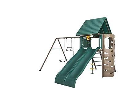 Lifetime Playground Play Set 90240 Deluxe Double Slide Playhouse Monkey Bars