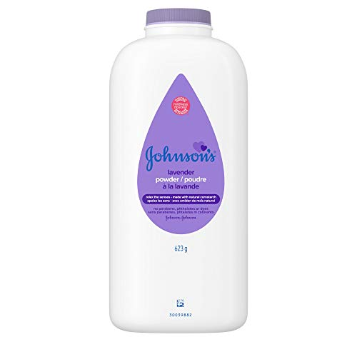 Johnson's Baby Powder, Pure Cornstarch, Lavender & Chamomile, 22 Ounce (Pack of 3)