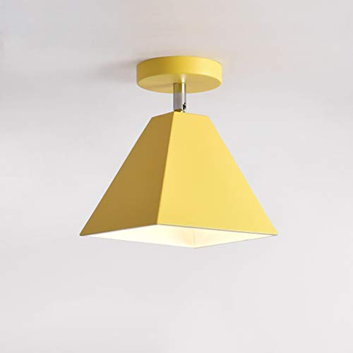 Nordic Small plafondlamp modern minimalistisch Aisle Foyer lampen kleur Foyer LED slaapkamer Aisle lampen (zonder lichtbron) geel