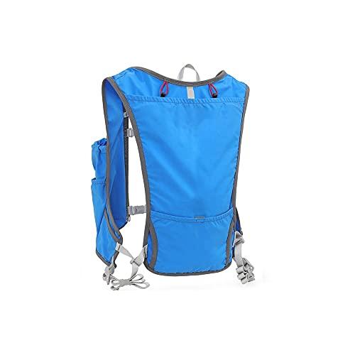 DSDBDqxbb Cycling Backpack, 5L Running Marathon Hydration Nylon Bolsas para Correr al Aire Libre Senderismo Mochila Chaleco Maratón Ciclismo Mochila Bolsa de Agua (Color : Blue)
