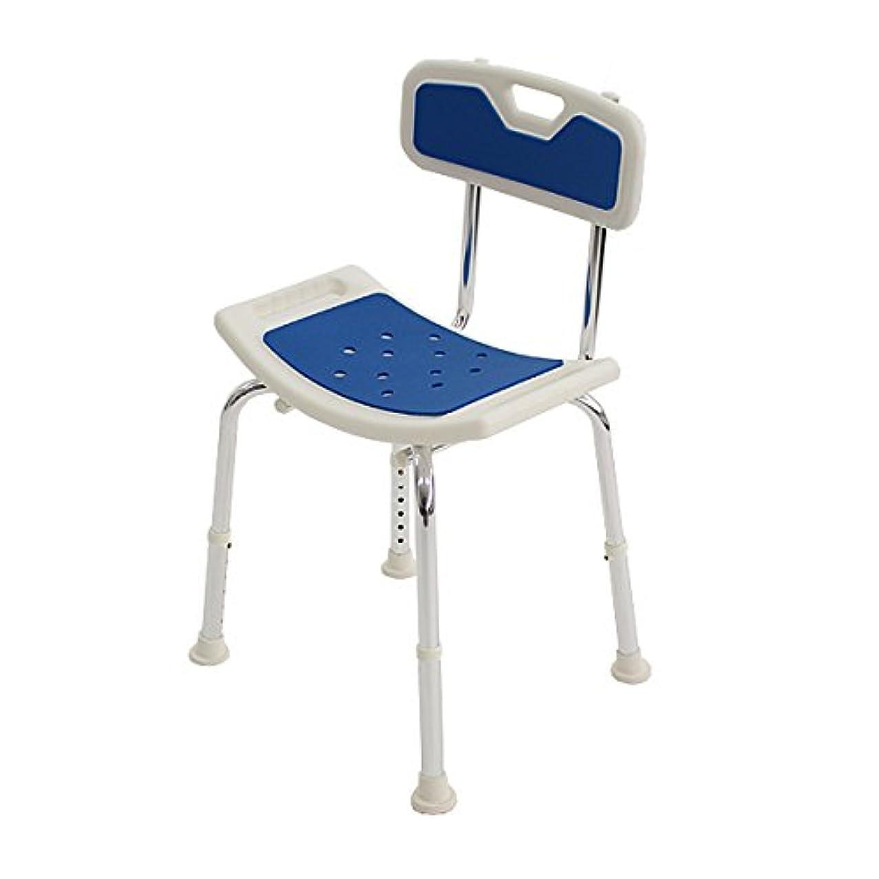 瞑想する道徳バストシャワーチェア シャワーベンチ シャワーステップ 背もたれ付き アルミ製 高さ調整 6段階高さ調整 座部横幅約51cm ワイドな横幅 座部奥行約31cm ワイドな奥行 柔らかクッション付き 福祉 介護 風呂 浴室 バス 椅子 イス 耐荷重150kg W53.5×D47×H82 jb02