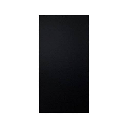 Wetterfeste Kreidetafel aus 6 mm Kunstharz schwarz, 90 x 45 cm, ohne Abstandshalter