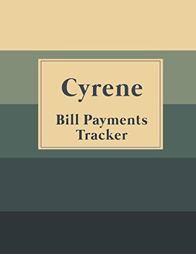 Cyrene Bill Payments Tracker: Custom Planner Navy Monthly Bill: Payment Organizer and Debt Tracker Keeper Log Book Money Journal Budget Money Notebook