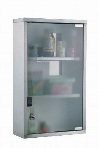Armadietto medicinali XL cassetta farmaci mobile bagno 45 x 30 x 12 cm 3 ripiani