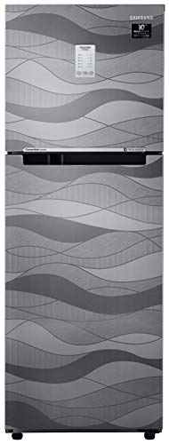 Samsung 253 L 3 Star Inverter Frost-Free Double Door Refrigerator (RT28T3753NV/HL, Inox Wave, Convertible)