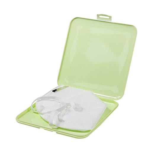 Caja de almacenamiento de máscaras desechables, caja portátil de cara Máscara de algodón Contenedor A prueba de polvo Fácil de llevar Máscaras de protección Funda Organizador de almacenamiento PP